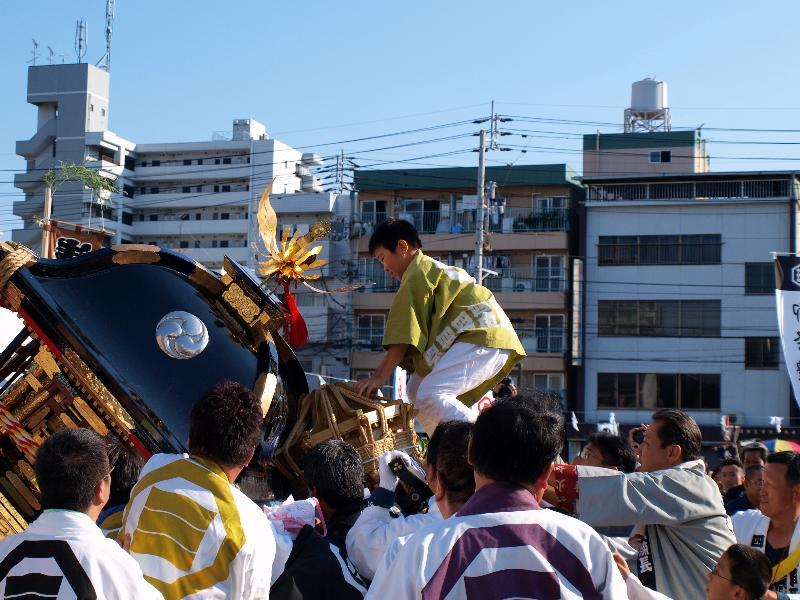 松山秋祭り 前夜祭 古町 子供神輿担き比べ