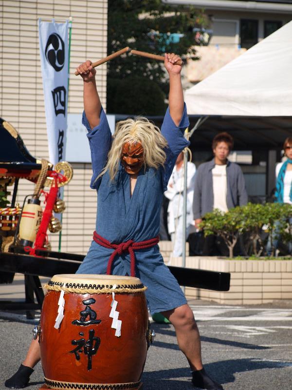 松山秋祭り 四角・八角 イベント 久万山五神太鼓