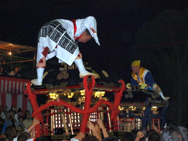 松山秋祭り 三津 厳島神社  神輿 鉢合わせ