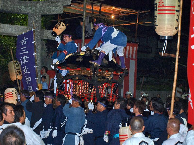 松山秋祭り 厳島神社 宵宮 神輿奉納