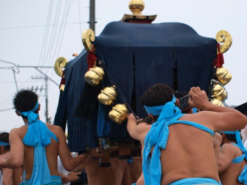 松山秋祭り 勝岡神社 一体走り