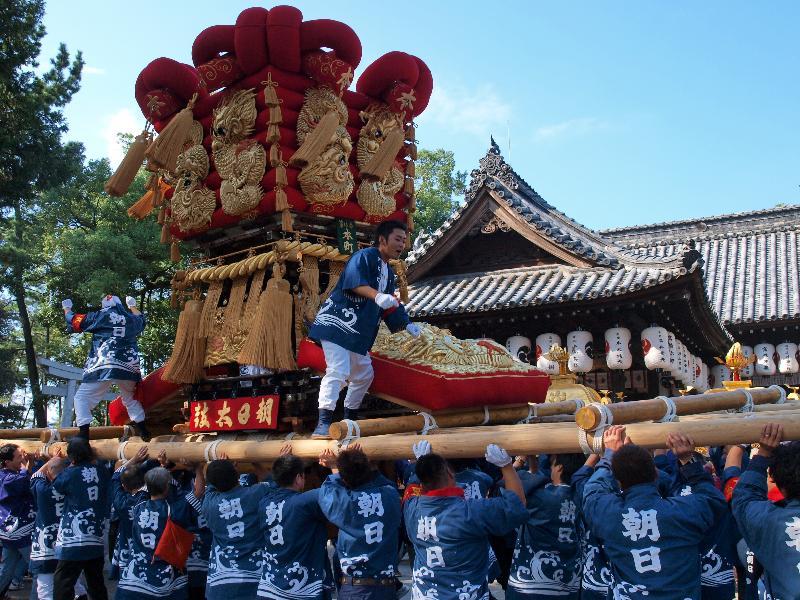 さぬき豊浜 ちょうさ祭り 豊浜八幡神社 宮入