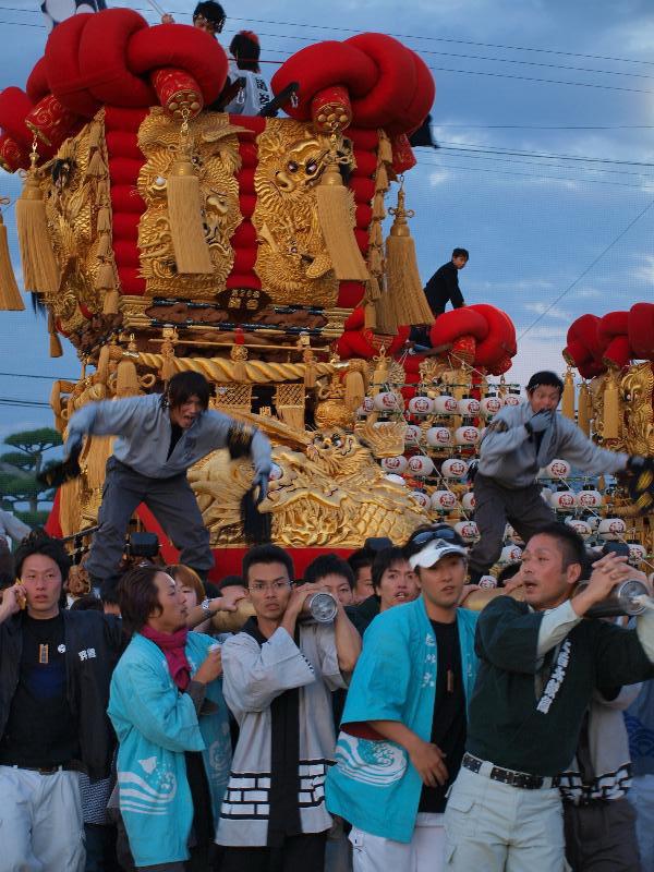 さぬき豊浜 ちょうさ祭り 和田お祭り広場 かきくらべ