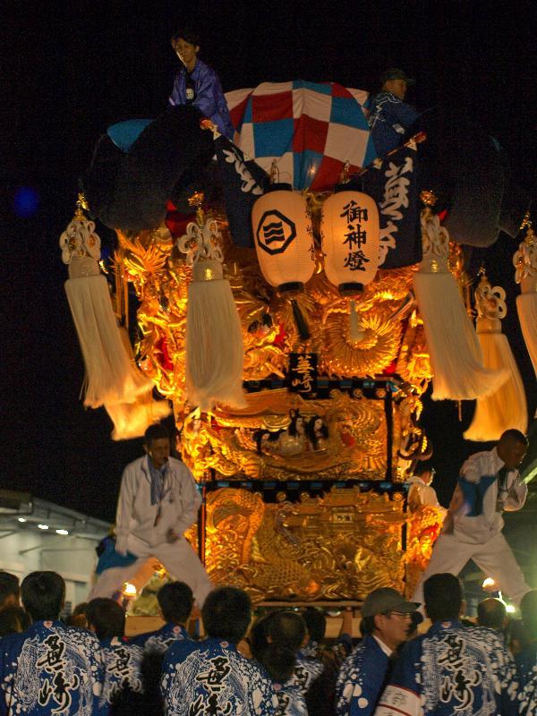 土居秋祭り JAうま川下支店 かきくらべ 蕪崎太鼓台