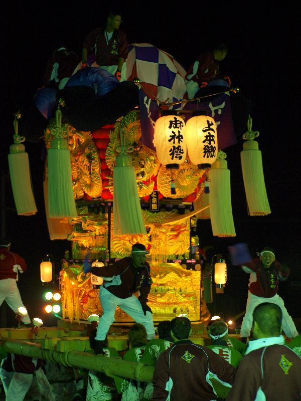 新居浜太鼓祭り 大生院地区 Mac大生院店前 夜太鼓