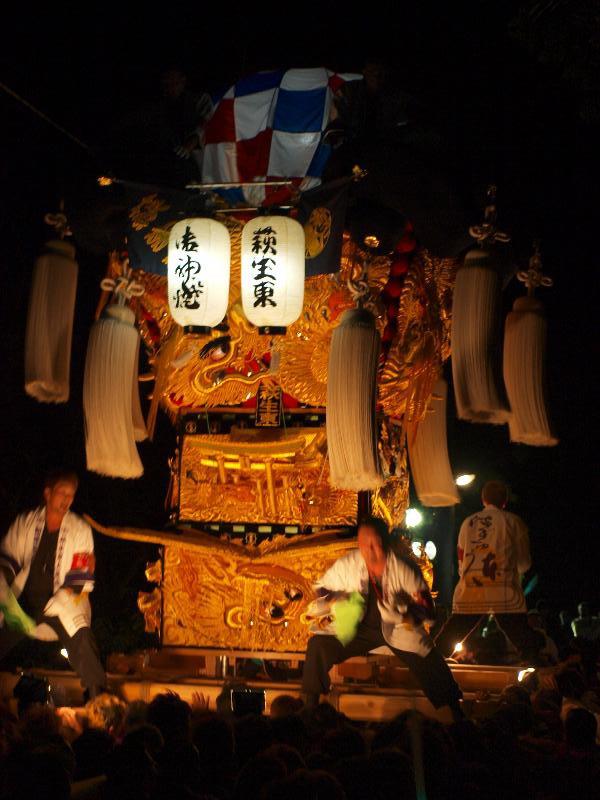 新居浜太鼓祭り 萩岡神社 かきあげ