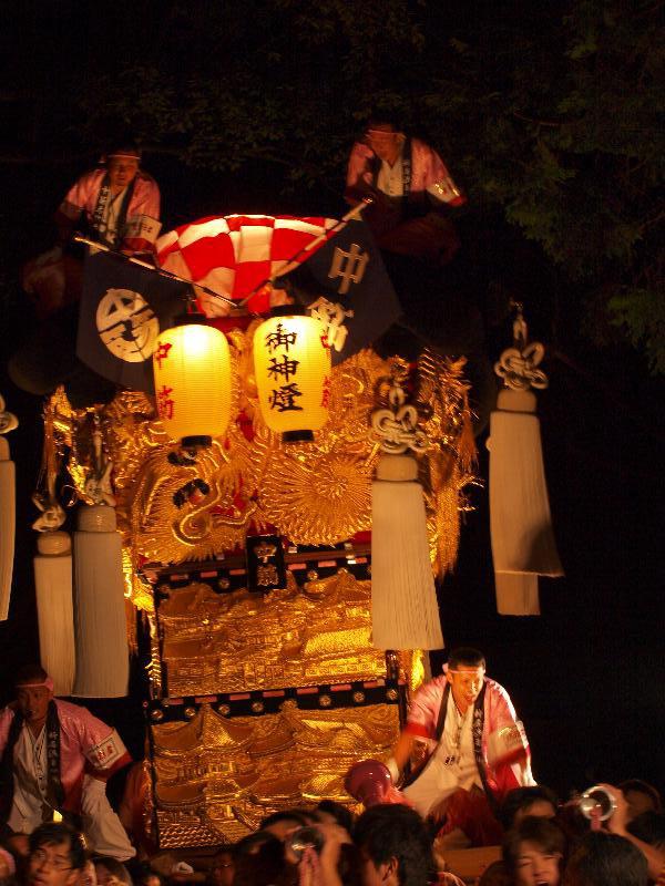 新居浜太鼓祭り 内宮神社 かき上げ