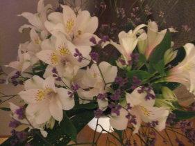 サロン内の花