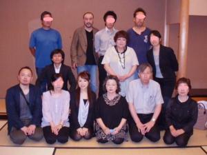 20110619コンサート終了後能楽堂にて