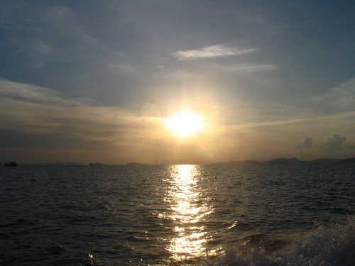 夕日。。。