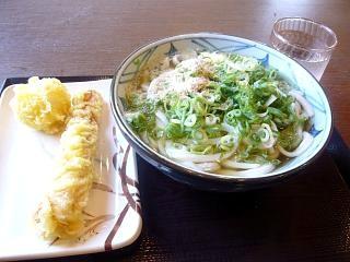 丸亀製麺(うどんとゲソ天)