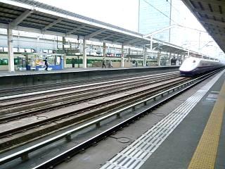 帰京の新幹線