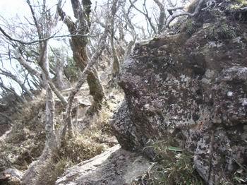 後ろ傾の岩のピーク14
