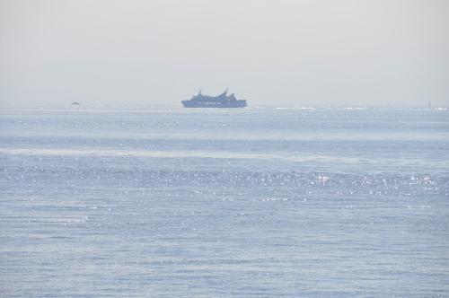 ブルーラインと海のきらめき