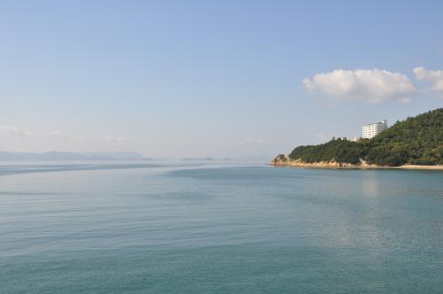 池田港から見た高松方面