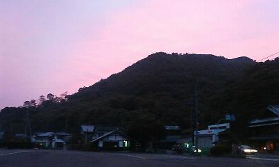 夕景(H22.6月下旬)