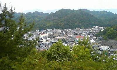 陶山神社から見た有田の町並み