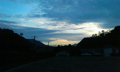 梅雨の終わりの晴れ間(H22.7.16 午後7時30分)