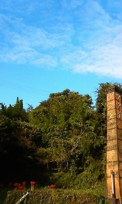 秋空と煙突(2010.09.26)