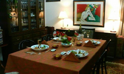 田中ゆかりさんのテーブルセッティング(2009.12.25)