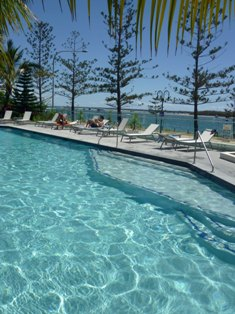 Pool overlooking Broadwater