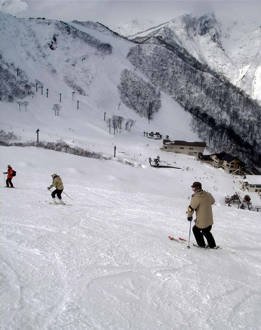 天神平でスキー①
