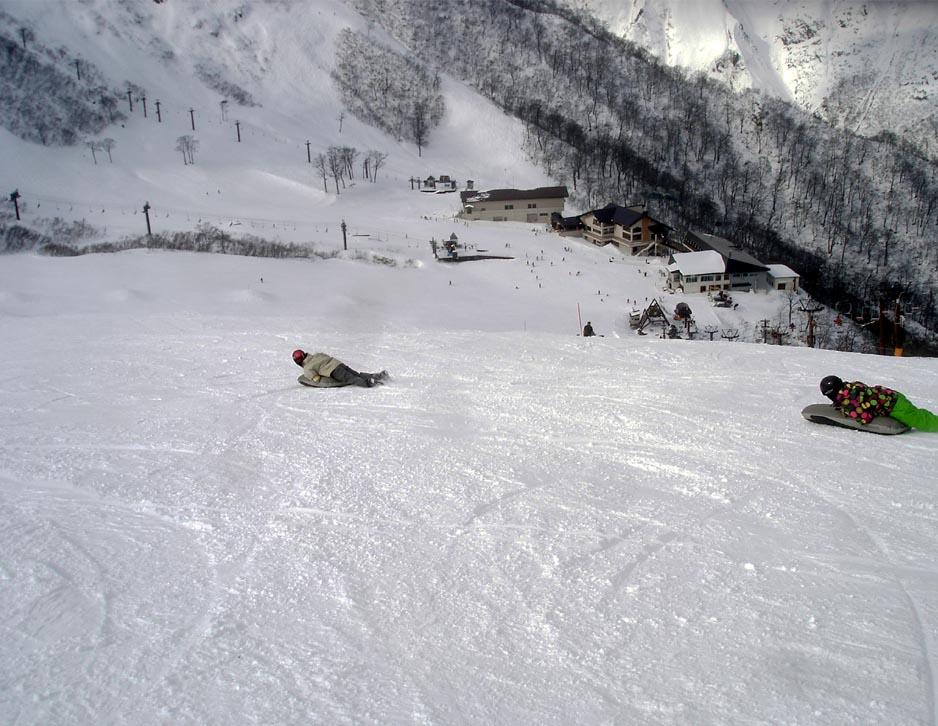 天神平でスキー②