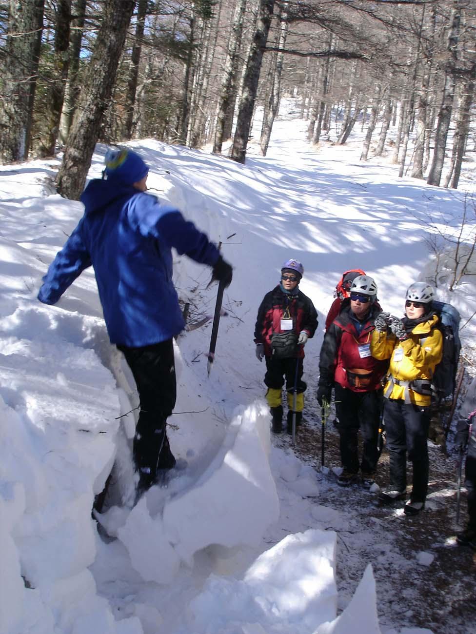 (11)雪庇崩落の説明