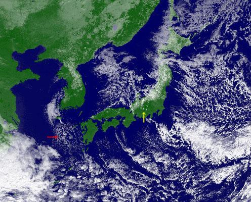 衛星可視画像 1月24日11時30分
