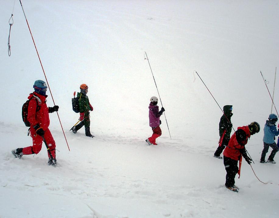 全国雪崩(5) 捜索訓練開始