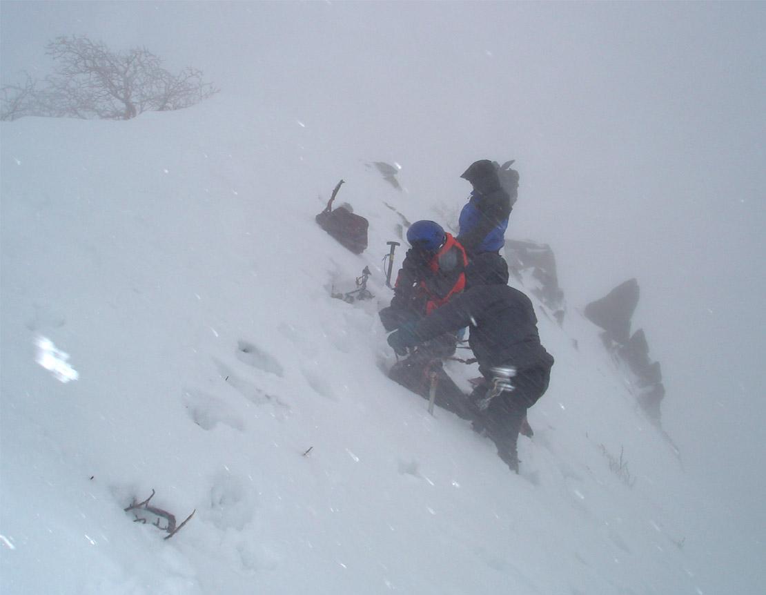 2月11日 雪庇観察準備①
