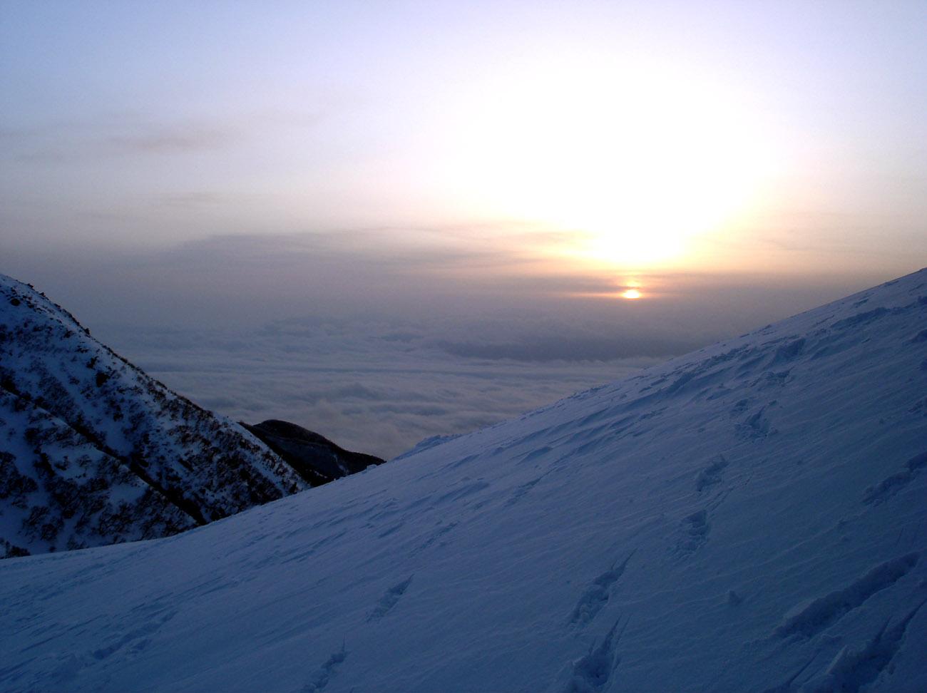 2月13日 早朝観察② 日の出