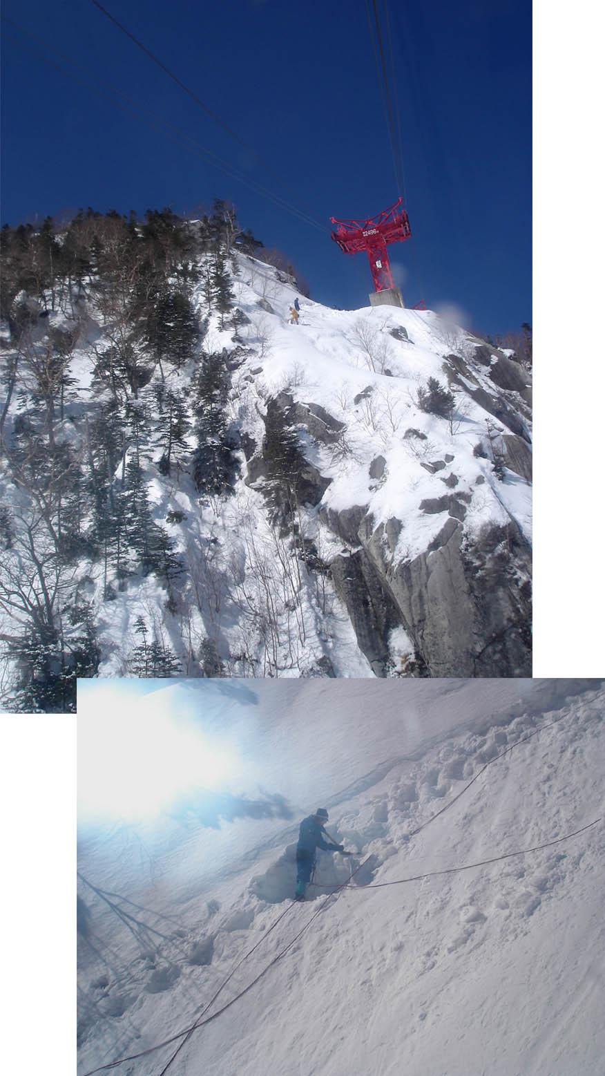 2月14日 ロープウェイ通過点除雪作業