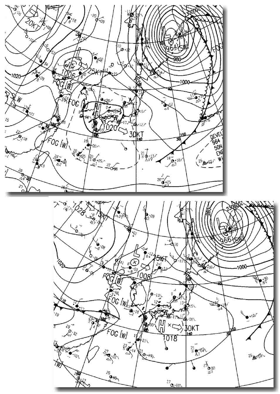 2010年3月22日の地上天気図