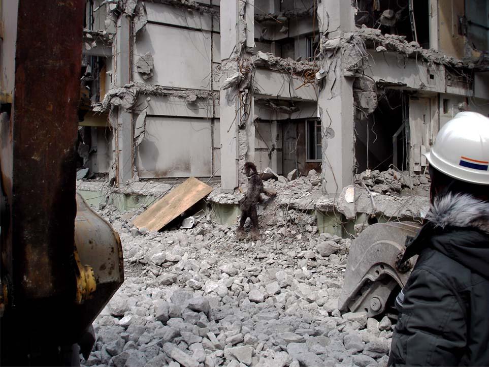 瓦礫現場捜索初歩訓練②