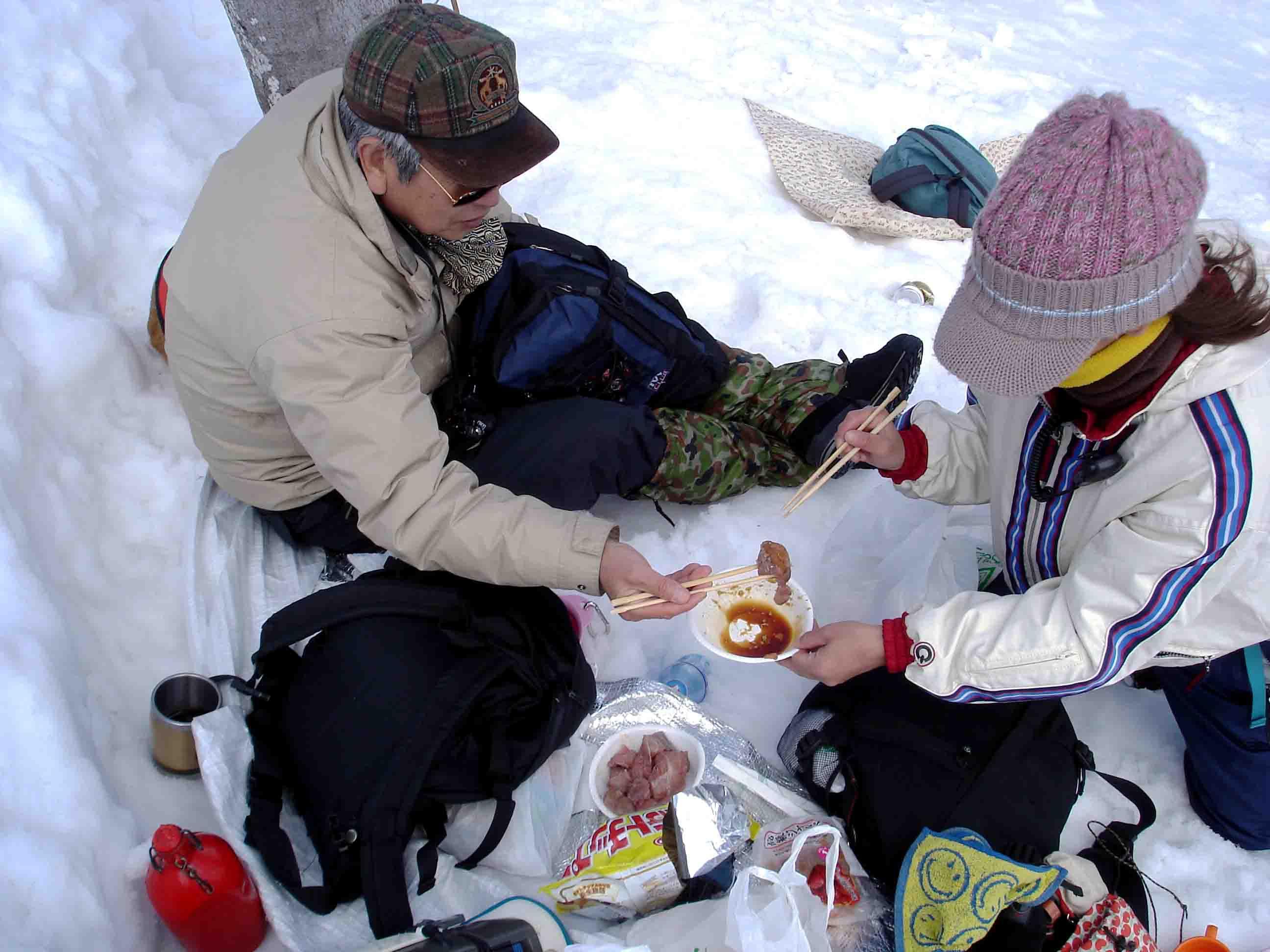 雪中訓練Ⅱ(11) 雪上の至福(クロマグロ)