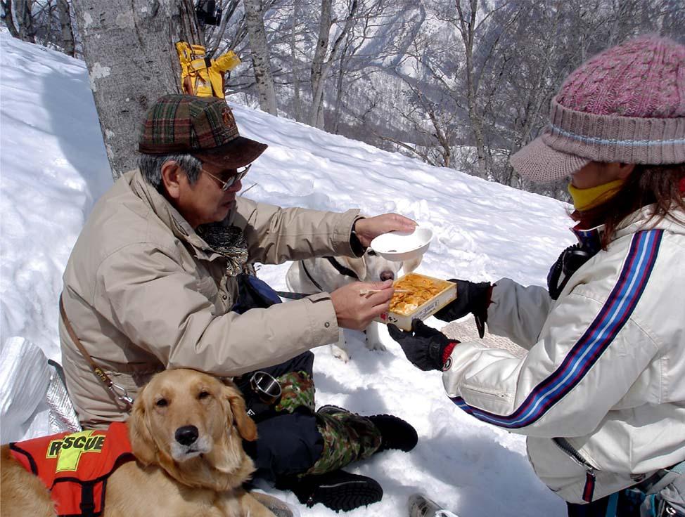 雪中訓練Ⅱ(13) 雪上の至福(うに)