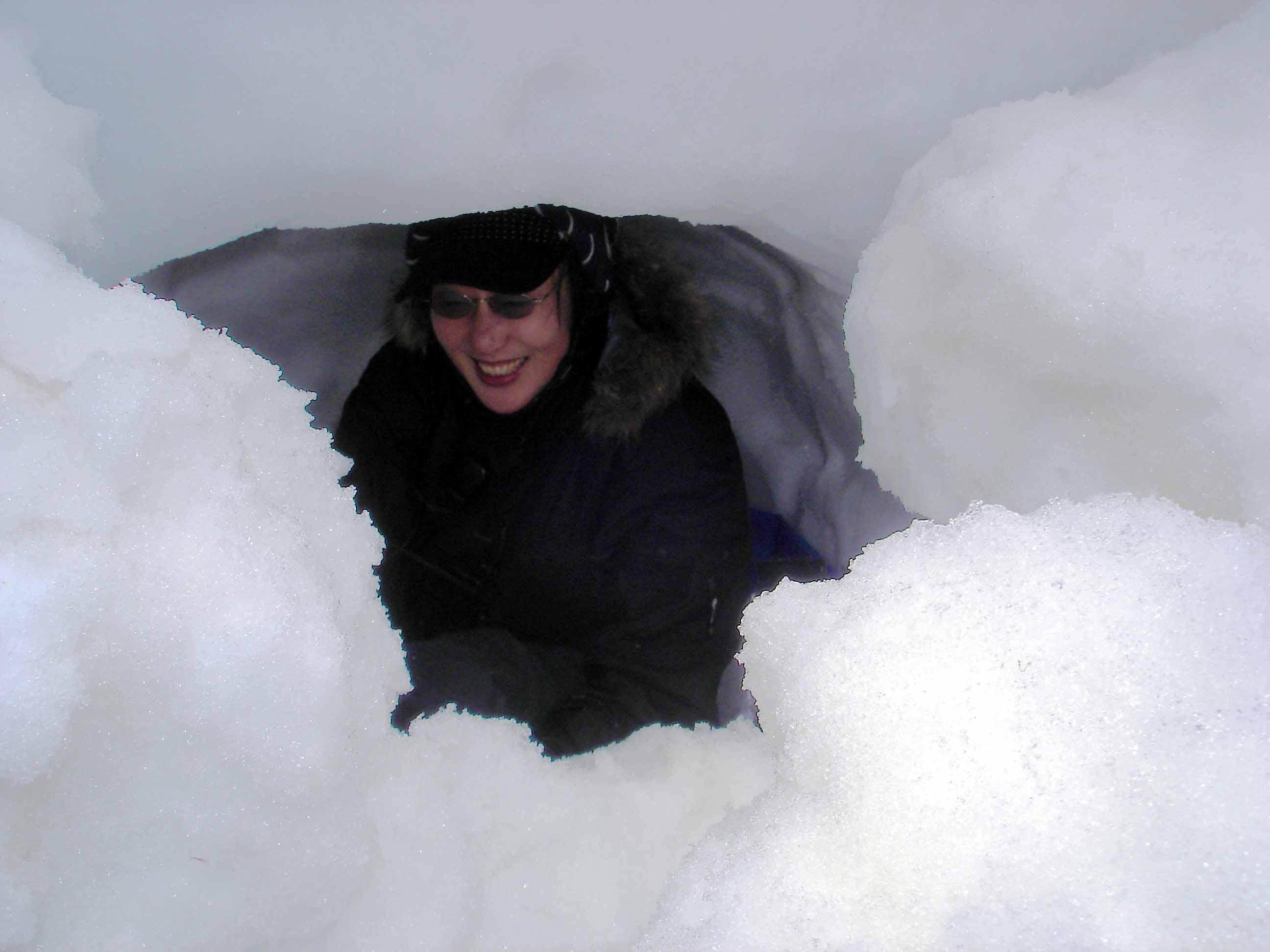 雪中訓練Ⅱ(15) 雪洞へ