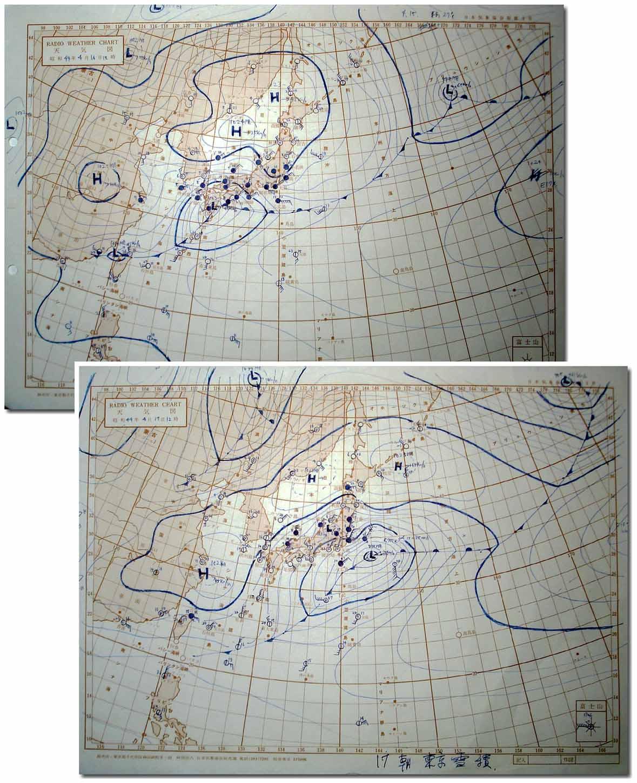 1969年4月16~17日 ラジオ天気図