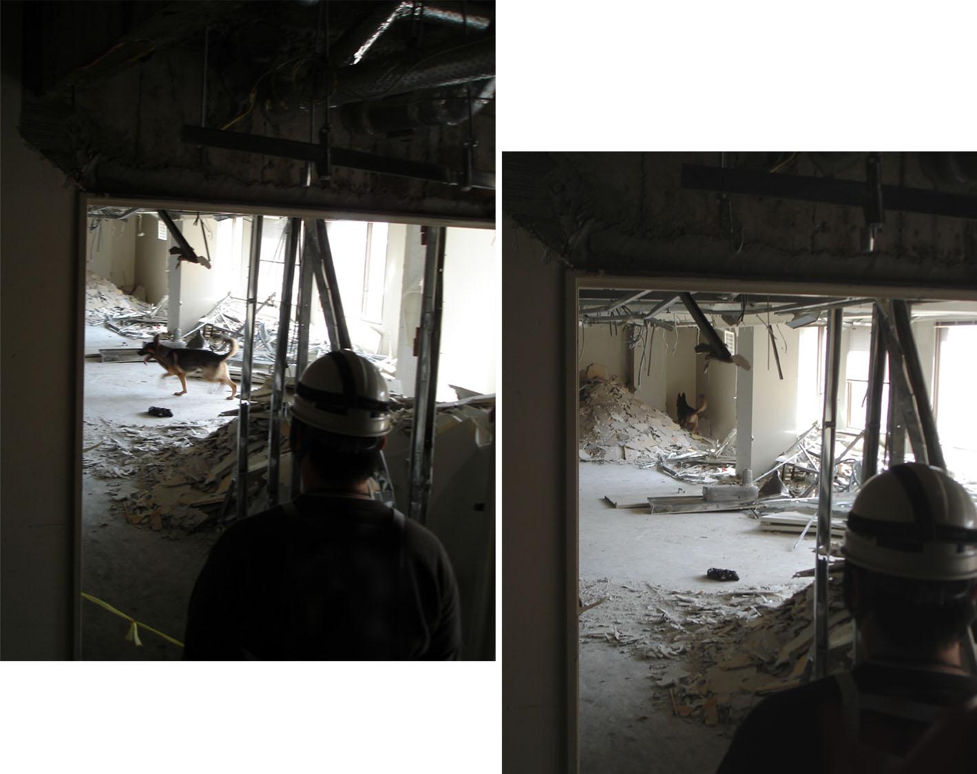 4月11日⑧ 室内捜索の様子