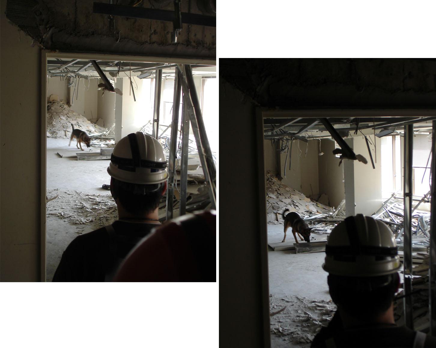 4月11日⑨ 室内捜索の様子
