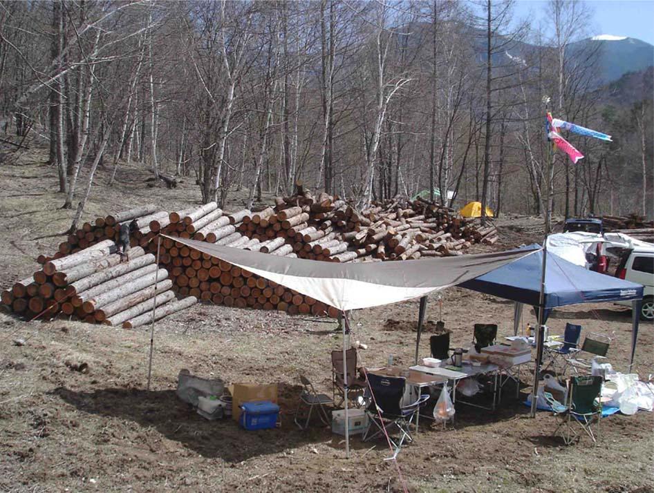 川上村TC-30 ベースキャンプ設営