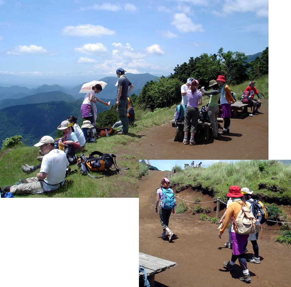 山ガールのいる山頂(メインルート)