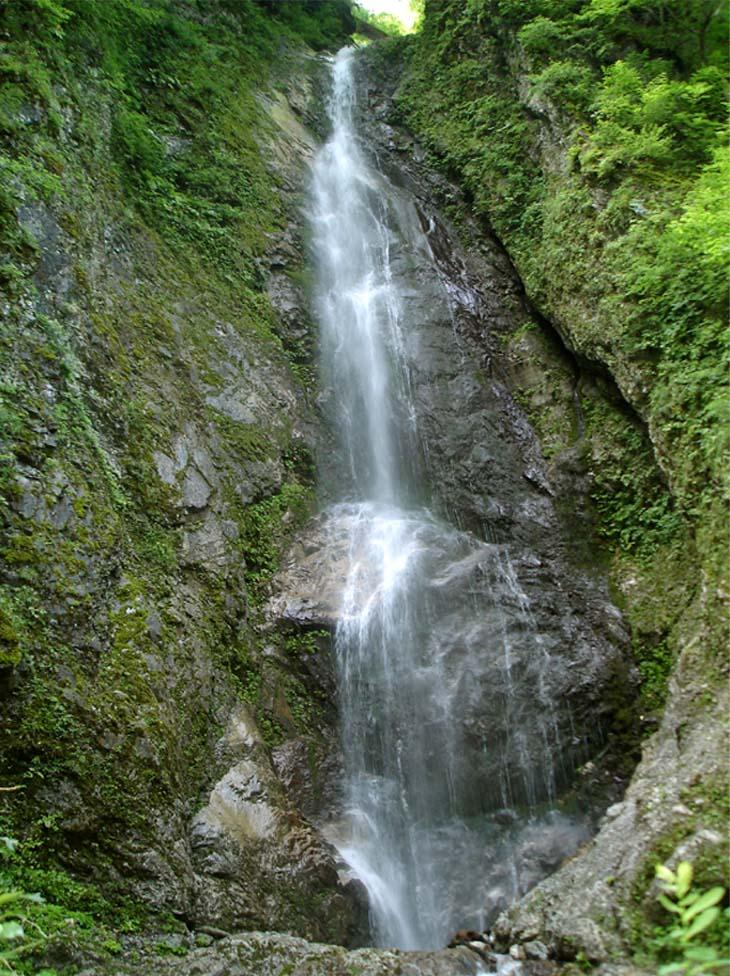 三峰川 20100816 巫女淵の滝