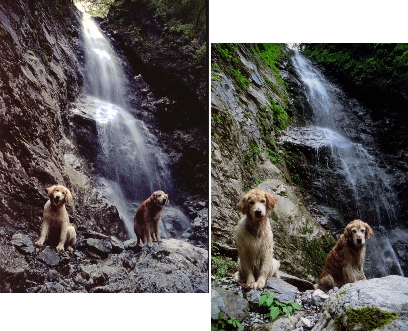 巫女滝で(チャンスとビンゴ 2003~2004年)
