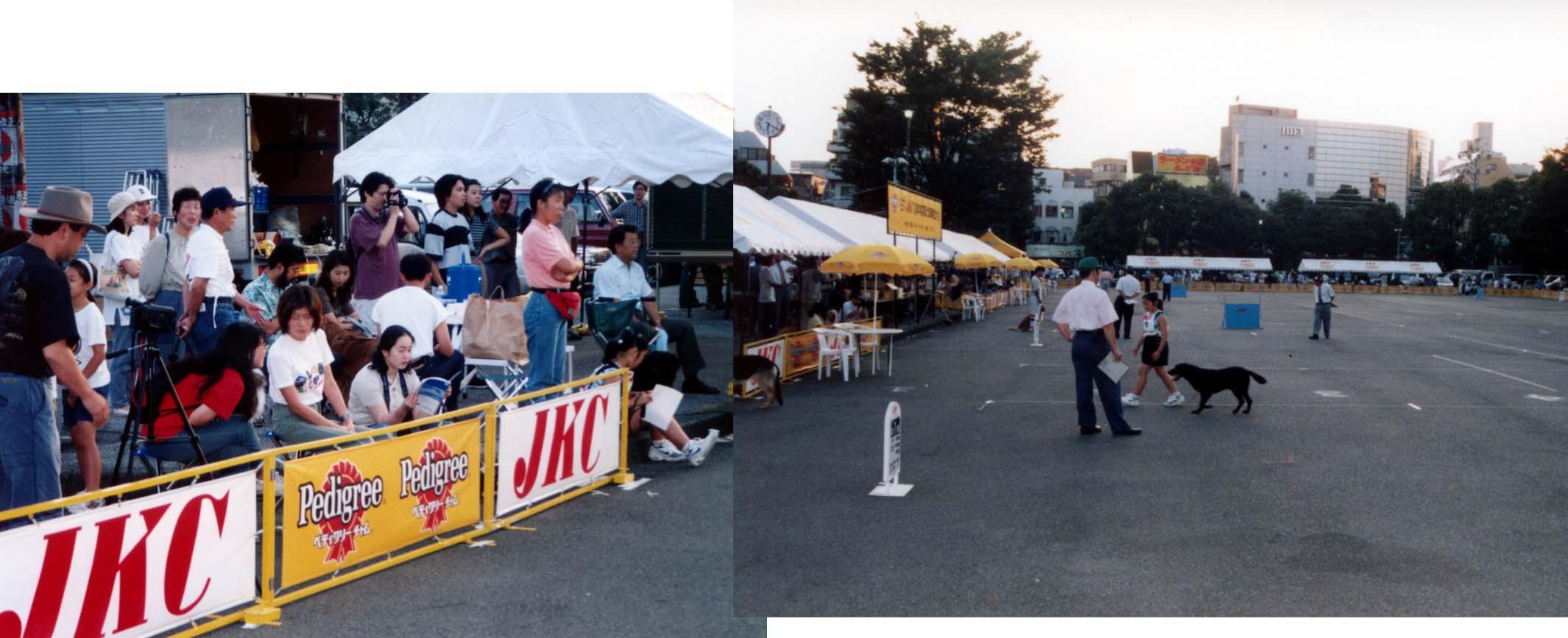 1997年JKC夏季本部競技会の一場面①