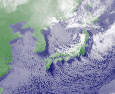 16日12時の気象衛星赤外画像