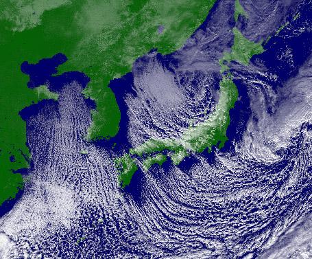 16日12時の気象衛星可視画像