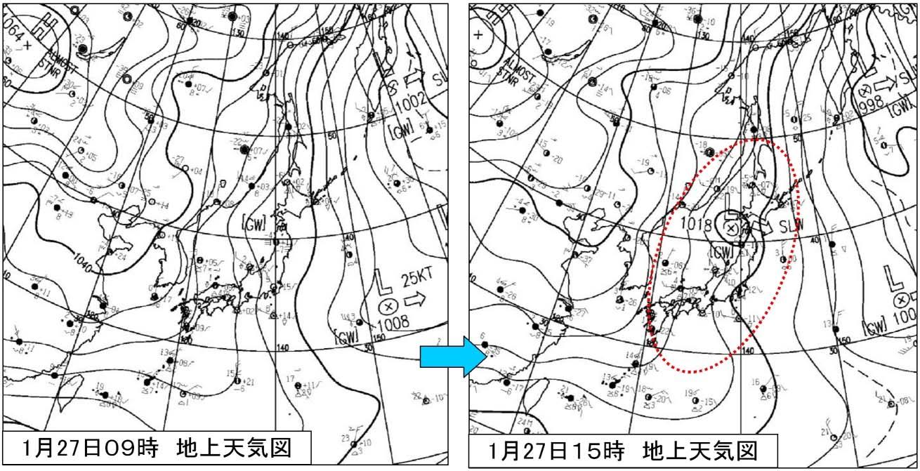 2011年1月27日の地上天気図