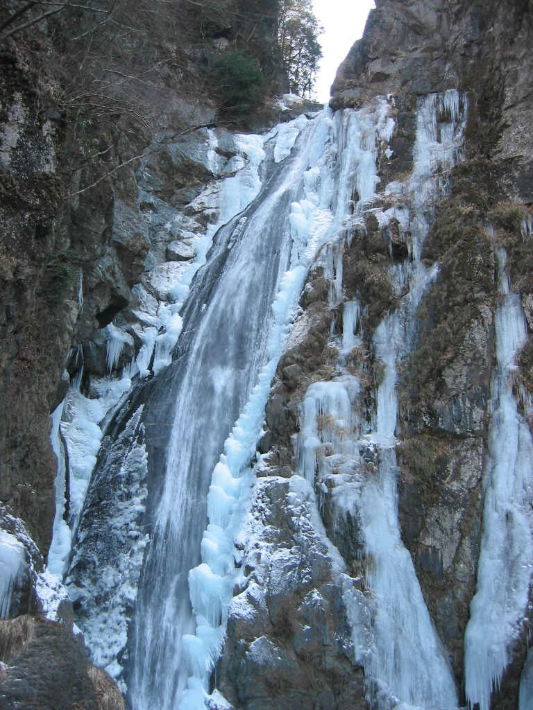 厳冬の大滝
